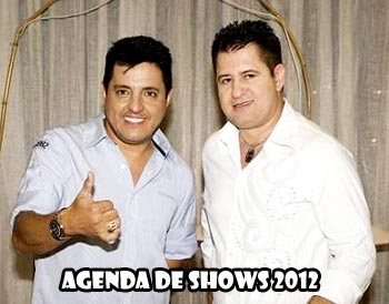 Agenda de Shows Bruno e Marrone 2012
